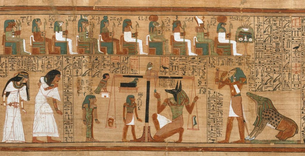 Book of the Dead, Papyrus of Ani (sheet 3) Ani's Judgment in the Hall of Judgment. (Photo by British Museum)