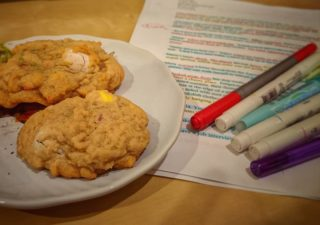 The perfect pairing for some deep edits? Mini egg cookies of course!  #writinglife #writerswhobake #amwriting #amediting #writing #editing #historicalfiction #yafiction #yahistoricalfiction #wip #history #ww2history #sisters #thebridge