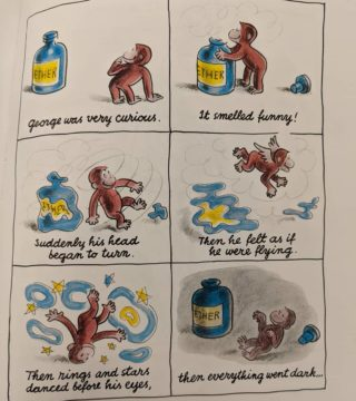 Hmmm might have to rethink some of the classic kid lit.... #curiousgeorgegetshigh